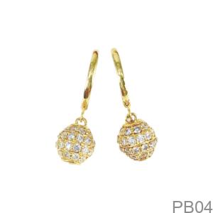 Bông Tai Nữ Vàng Vàng 18K - PB04