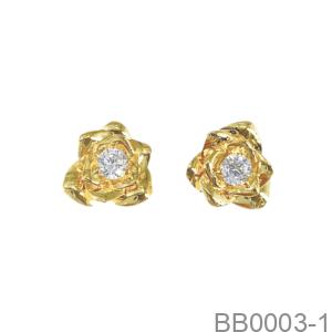 Bông Tai Nữ Vàng Vàng 18K - BB0003-1