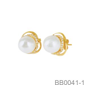 Bông Tai Nữ Vàng Vàng 18K - BB0041-1