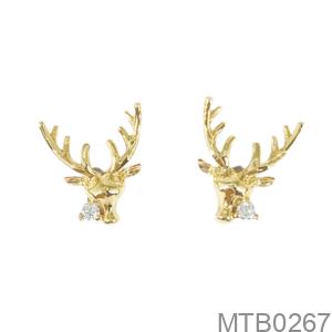 Bông Tai Nữ Vàng Vàng 18K - MTB0267