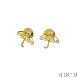 Bông Tai Nữ Vàng Vàng 18K - BTK19