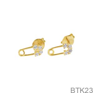 Bông Tai Nữ Vàng Vàng 18K - BTK23