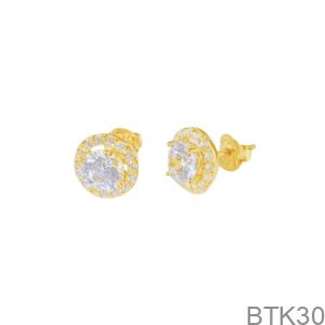 Bông Tai Nữ Vàng Vàng 18K - BTK30