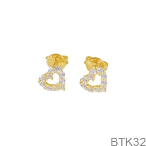 Bông Tai Nữ Vàng Vàng 18K - BTK32
