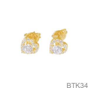 Bông Tai Nữ Vàng Vàng 18K - BTK34