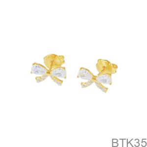 Bông Tai Nữ Vàng Vàng 18K - BTK35