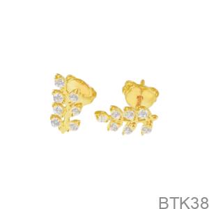 Bông Tai Nữ Vàng Vàng 18K - BTK38