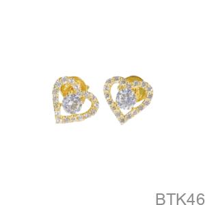 Bông Tai Nữ Vàng Vàng 18K - BTK46