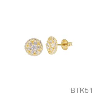 Bông Tai Nữ Vàng Vàng 18K - BTK51