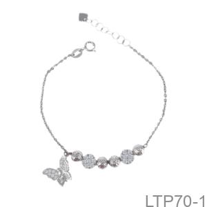 Lắc Tay Nữ Vàng Trắng 10K - LTP70-1