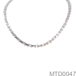 Dây Chuyền Nam Vàng Trắng 18K - MTD0047