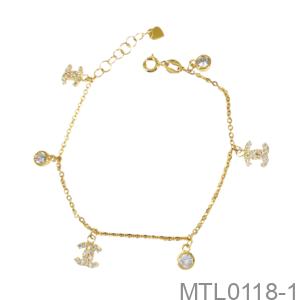 Lắc Tay Nữ Vàng Vàng 18K - MTL0118-1