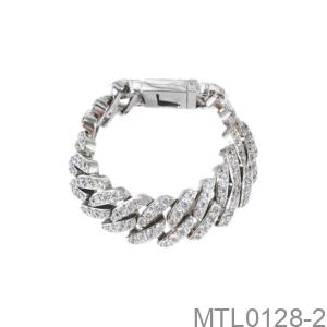 Lắc Tay Nam Vàng Trắng 18K - MTL0128-2