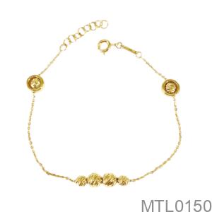 Lắc Tay Nữ Vàng Vàng 18K - MTL0150