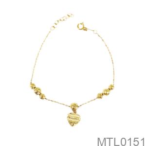Lắc Tay Nữ Vàng Vàng 18K - MTL0151