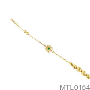 Lắc Chân Nữ Vàng Vàng 18K - MTL0154