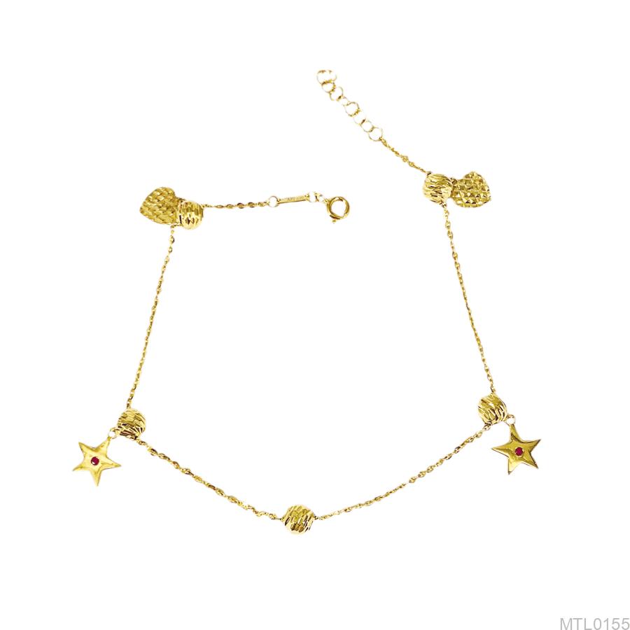 Lắc Chân Nữ Vàng Vàng 18K - MTL0155