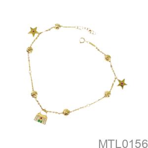 Lắc Chân Nữ Vàng Vàng 18K - MTL0156