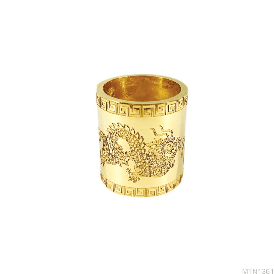 Nhẫn Nam Vàng Vàng 9999 - MTN1361