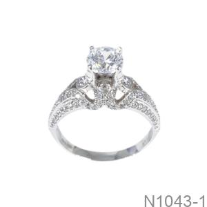 Nhẫn Nữ Vàng Trắng 10K - N1043-1