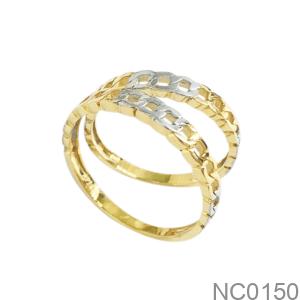 Nhẫn Cưới Hai Màu Vàng 18K - NC0150