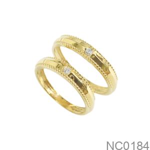 Nhẫn Cưới Vàng Vàng 18K - NC0184